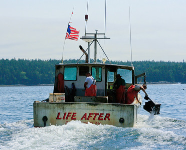 "Maine lobster boat ""LIfe After,"" Cundy's Harbor"