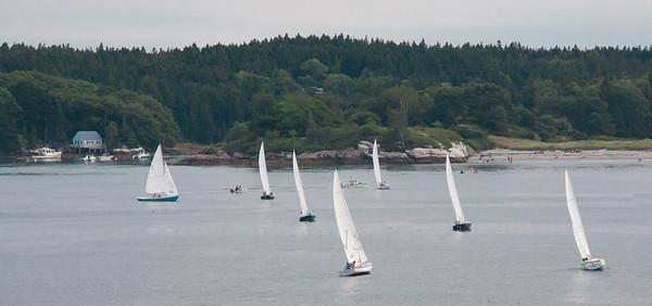 Regatta, Small Point Yacht club, Phippsburg Maine, Hermit Island, Marin Island, August 18, 2012