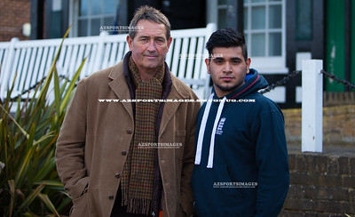 Graham Gooch with local young cricketer Kash
