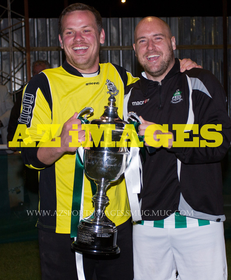 Goalkeeper ADAM SEALS with Player-Manager DAN TRENKEL