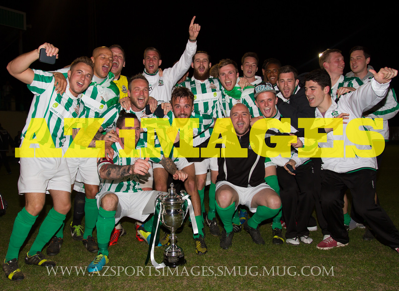 GREAT WAKERING ROVERS FC ESL League Cup Winners 2014. Coles Park N17 5th May 2014