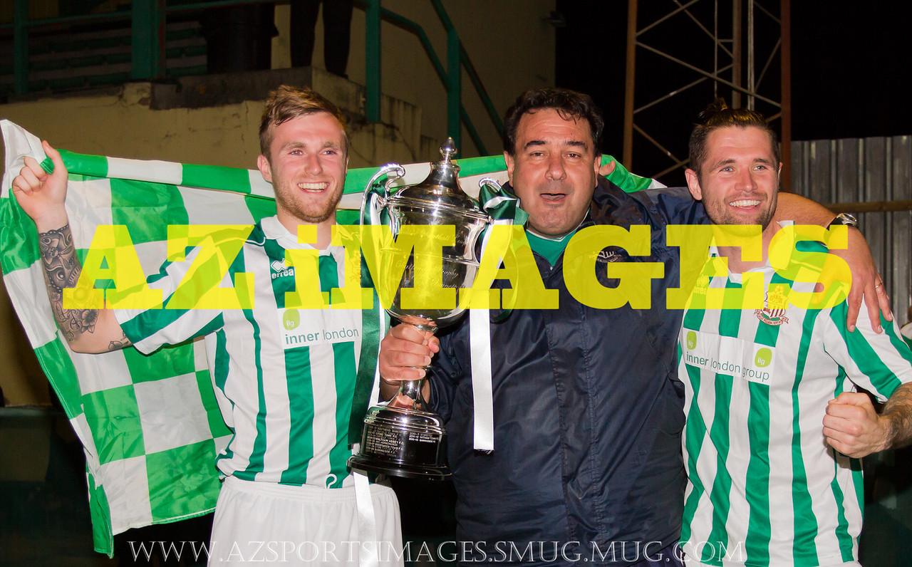 JAY NASH, Coach ENRICO TIRITERA and captain LEWIS SPARROW