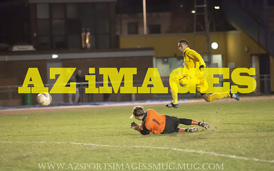 Carlos Castano slots in his second goal of the night