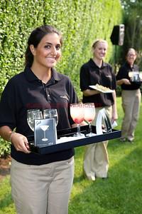 Drinks on trays