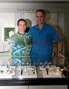 Nathalie Diamantis of Van Cleef & Arpels, Scott Rosen of TW Steel