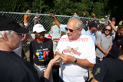 Chevy Signing shirt