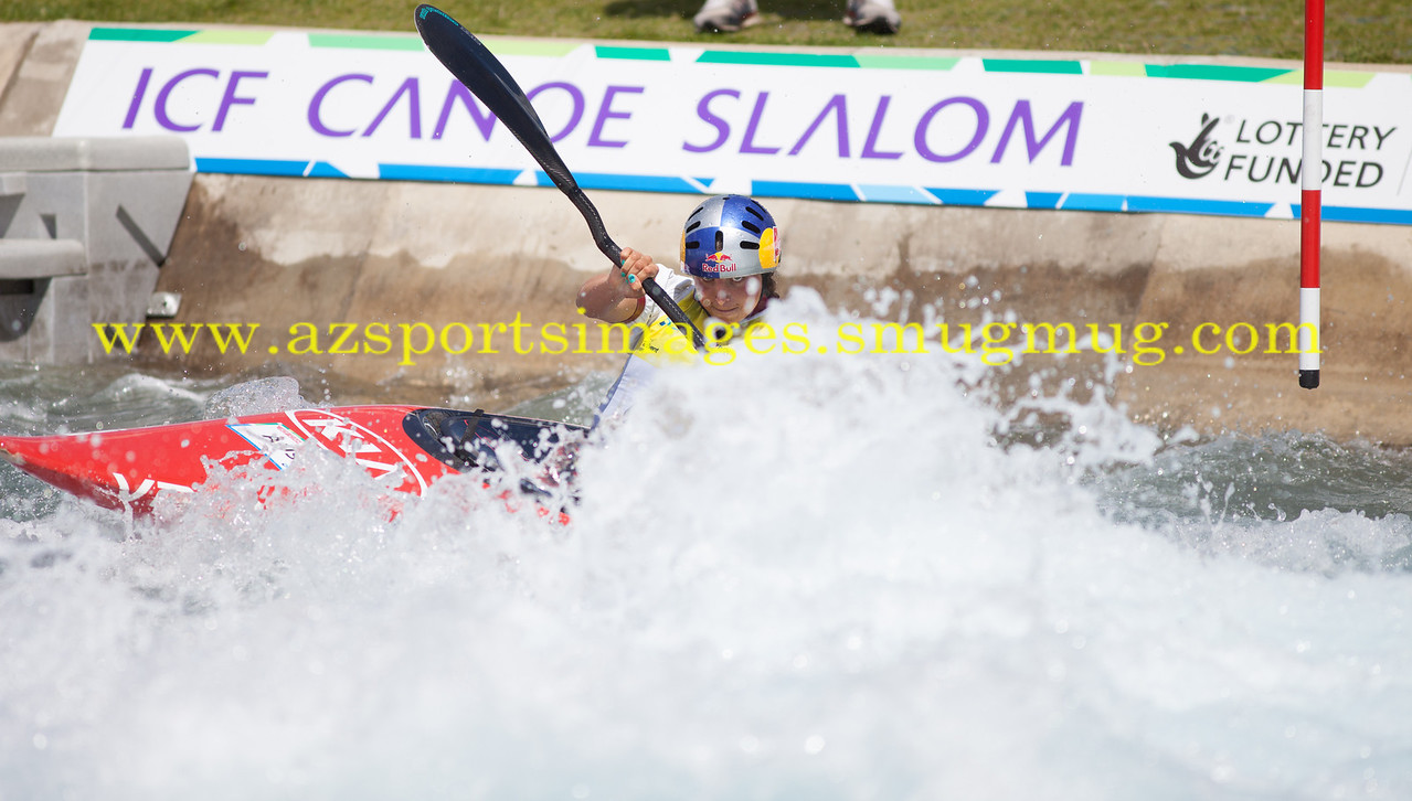 JESSICA FOX-Australia Women's Kayak (K1) Final. 2014 ICF Canoe Slalom World Cup- Lee Valley White Water Centre. (3rd place finish)