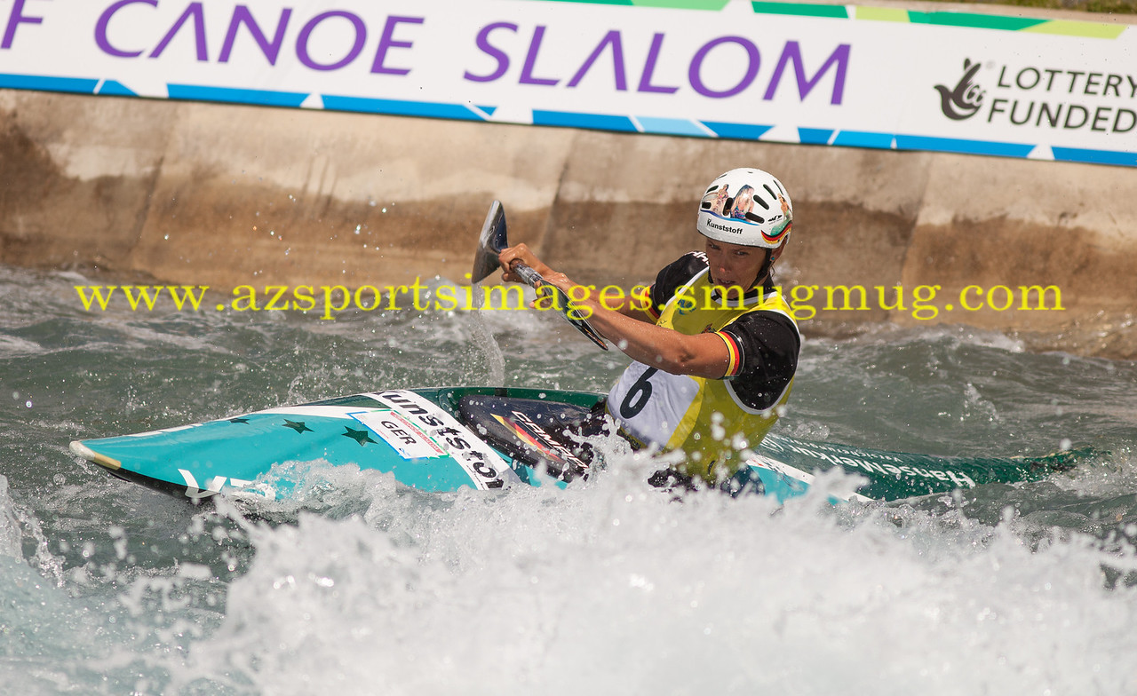 JASMIN SCHORNBERG-Australia. Women's Kayak (K1) Final. 2014 ICF Canoe Slalom World Cup- Lee Valley White Water Centre