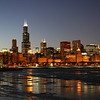 Looking West From The Adler Planetarium - Winter
