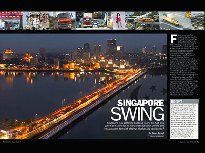 SINGAPORE, PUBLISHED IN TRUCKING MAGAZINE UK
