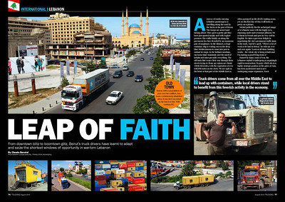 LEBANON PUBLISHED IN TRUCKING MAGAZINE UK IN 2010