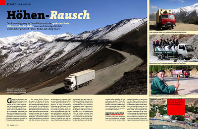 THE PAMIR HIGHWAY PUBLISHED IN TRUCKER GERMANY