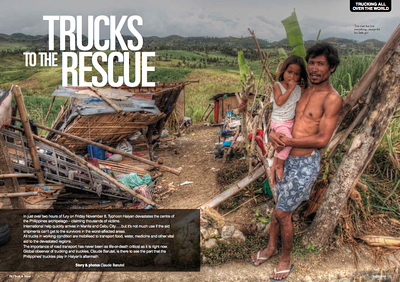 TYPHOON IN THE PHILIPPINES, PUBLISHED IN TRUCK & DRIVER NZ