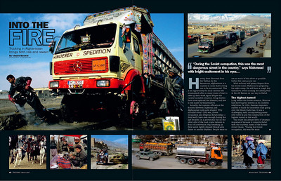 AFGHANISTAN, PUBLISHED IN TRUCKING MAGAZINE (UK)