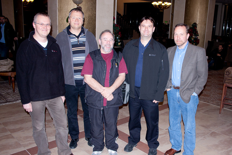 "Oracle OTN ACE and ACE Directors at Bulgaria Oracle Users Group Autum Conference in Pravets, Bulgaria.  (L-R)  Marcin Przepiorowski, Jože Senegačnik, Daniel Morgan, Ronald Bradford & Tom Kyte<br /> -- <a href=""http://twitter.com/#!/RonaldBradford/status/6428350335680512"">http://twitter.com/#!/RonaldBradford/status/6428350335680512</a>"