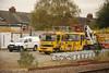 Keltbray Aspire Lorrys <br /> <br /> Location: Levenshulme <br /> <br /> Date: 25th  Oct 2012 <br /> <br /> <br /> Left: DAF 45LF PRB 10 Flat Bed <br /> <br /> Road Reg: GK02 UKT <br /> <br /> Euro # 919060-2<br /> <br /> Right: Volvo FL6 1<br /> <br /> Road Reg: W536 HJW<br /> <br /> Euro # 972008
