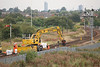 MT Kaill Plant Hire <br /> <br /> Komatsu PW150 <br /> <br /> Location: Ashton Moss North Jct <br /> <br /> Date: 23rd Sept 2012 <br /> <br /> Road Reg: MV54 AUF <br /> <br /> Euro # 940644-6<br /> <br /> Trailer that it working with is: <br /> <br /> 010545
