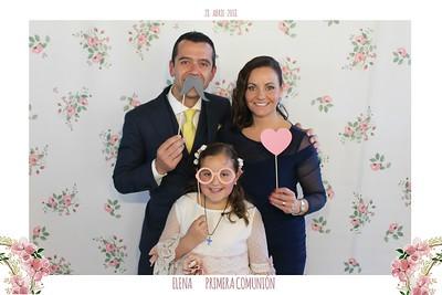 Primera comunión de Elena 28.04.2018 ¿Primer apellido de Elena? (Primera en mayúscula y sin tilde)