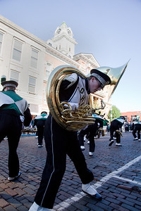 Marching 110 at the homecoming parade 10/15