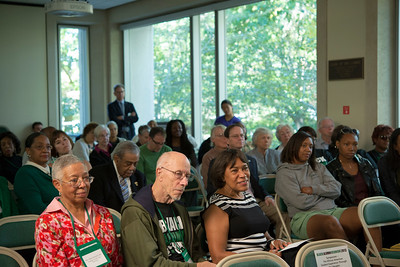 "The Symposium at Alden Library from 11 to noon, titled ""The African American Student Experience Through the Decades"" was hosted by the Black Alumni Reunion on Saturday, September 28, 2013."