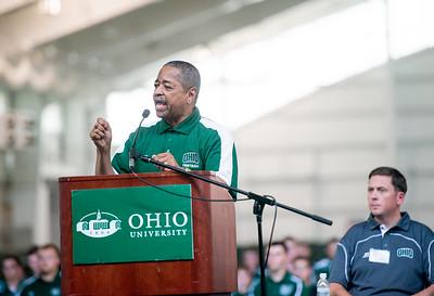 Ohio University President Roderick McDavis speaks at the Walter Fieldhouse Dedication. Photo by Ben Siegel/ Ohio University