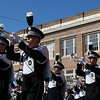 The Marching 110 marches in the homecoming parade.