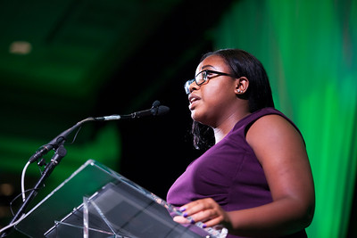 Niaree Williams speaks during the Promise Lives Campaign Celebration Gala on Friday, Sept. 11, 2015. Photo by Kaitlin Owens