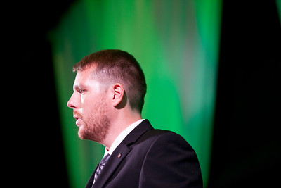 Tyler Daniels speaks during the Promise Lives Campaign Celebration Gala on Friday, Sept. 11, 2015. Photo by Kaitlin Owens