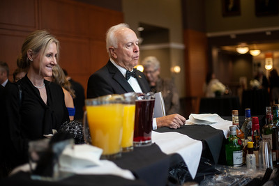 Attendees of the 2018 Alumni Awards happily waited for refreshments before the gala began. Photo by Ellee Achten