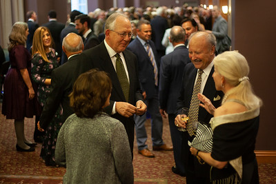 Alumni and guests for the 2018 Alumni Awards Gala packed the hallway outside the Baker Center Ballroom in preparation for the night's festivities. Photo by Ellee Achten