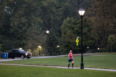 Photo by Max Catalano, BSVC 20'   Bobcats of all ages participate in an early morning 5k run at Ping Center October 20.