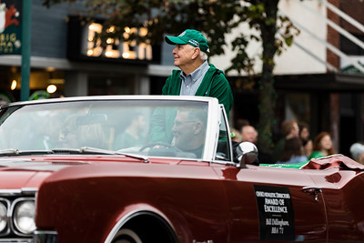 Photo by Max Catalano, BSVC 20'   Award of Excellence awardee Bill Dillingham at the Ohio University 2018 Homecoming Parade on October 20.