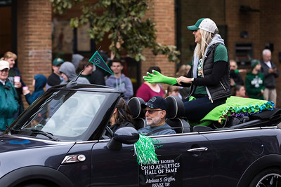 Photo by Max Catalano, BSVC 20'   Ohio Athletics Hall of Fame awardee Melissa S. Griffin at the Ohio University 2018 Homecoming Parade on October 20.