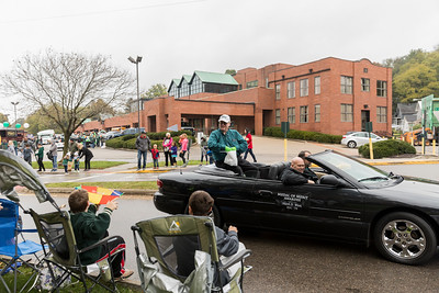 Photo by Max Catalano, BSVC 20'   Medal of Merit Awardee Mark D. West at the Ohio University 2018 Homecoming Parade on October 20.