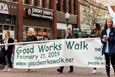 Photo by Max Catalano, BSVC 20'   Good Works Walk at the Ohio University 2018 Homecoming Parade on October 20.
