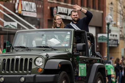 Photo by Max Catalano, BSVC 20'   Homecoming Court members at the Ohio University 2018 Homecoming Parade on October 20.