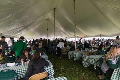 Photo by Max Catalano, BSVC 20'   The Bobcat Bash Tailgate offers food and games for everyone preparing to watch the Homecoming football game in Tailgreat Park on October 20.