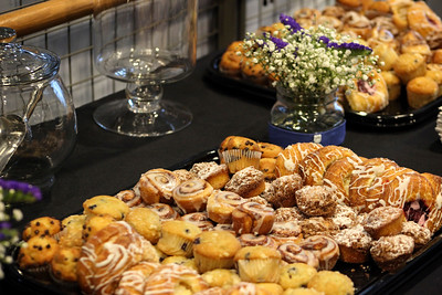 Pastries are served as attendees filter in the morning of the 13th Annual Celebrate Women Conference on the Ohio University Lancaster campus on March 22, 2019.