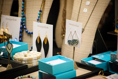 Jewelry is shown in an attractive display from the vendor Trades of Hope at the  13th Annual Celebrate Women Conference on March 22, 2019.