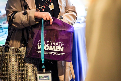 In March, at the Ohio University 13th Annual Celebrate Women Conference in Lancaster, Ohio, attendees were given event packets designed in a bright purple--one of this year's colors.