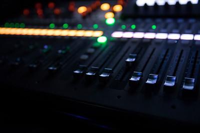 Photo by Max Catalano, BSVC 20'   The audio control board is run by Ohio University student's Cristin 'Rocky' Vinci and Ally Zablo.