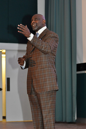 Chris Gardner, the story behind the award winning movie, Pursity of Happyness, spoke at Independence Hall at Ohio State on Monday, February 1, 2010.