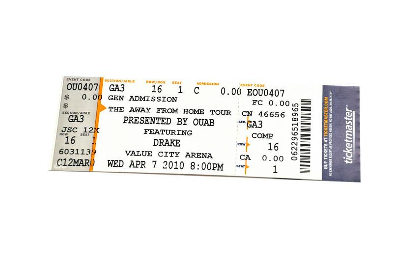 2010 Drake Ticket Release