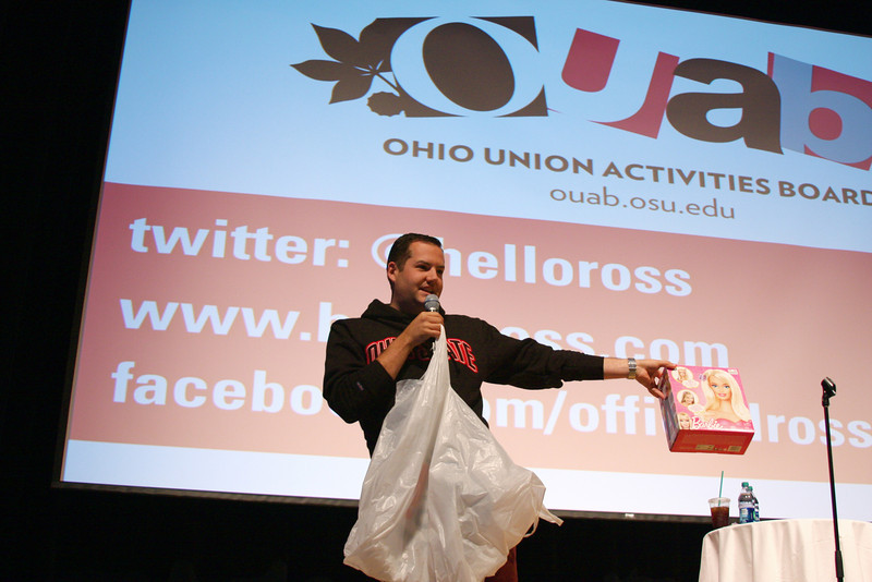 OUAB Presents An evening with Ross Mathews at the Ohio Union Performance Hall<br /> May 14, 2012