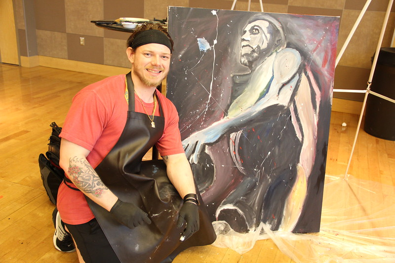 OUAB Presents Live Art on April 3, 2017. (Nick DaLonzo/Ohio Union Activities Board)