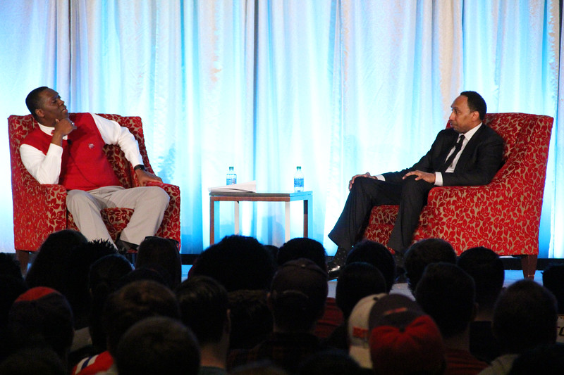 OUAB and Block O Present Take a Side with Stephen A. Smith on March 30, 2017. (Nick DaLonzo/Ohio Union Activities Board)