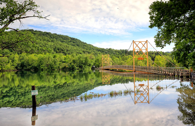 "The ""Little Golden Gate Bridge"" of Arkansas - Beaver, Arkansas - May 2017"
