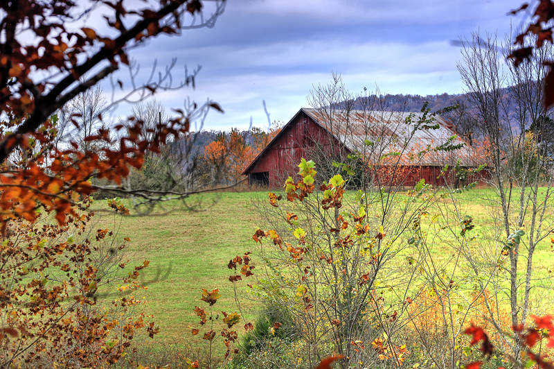 Mountain Barn in Autumn - Ouachitas of Arkansas - Fall 2020