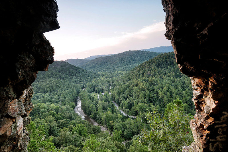 Window Rock - Albert Pike - Langley, Arkansas