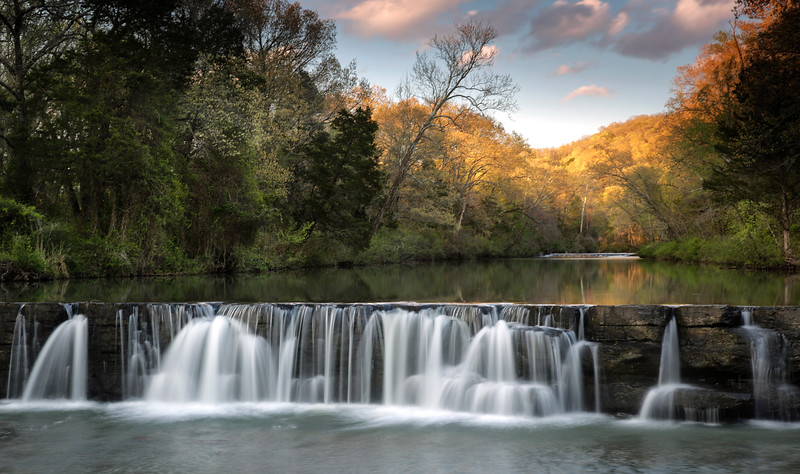 Spring Sunset - Natural Dam, Arkansas - Spring 2017